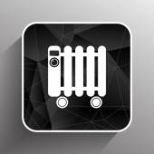 Typical heater filled radiator icon symbol electric — Stock Vector