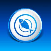 Fish menu icon logo seafood fork tuna vector — Stock Vector