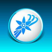 Vanilla flower and vanilla pods Vector Logo — Stock Vector