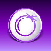 Simple Tomato vector symbol icon useful for logo — Stock Vector