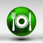 Restaurant menu symbol such logo food cafe — Stock Vector