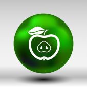 Illustration apple vector element logo nature  food — Stock Vector