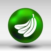 Banana vector Fruit infographic logo simple icon — Stock Vector