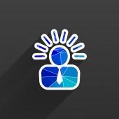 Icon suggestion idea concept lightbulb people — Stock Vector