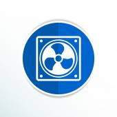 Fan icon airflow cooling cooler confusing manual cold — Stock Vector