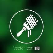 Vector logo fork with pasta hot symbol — Stock Vector