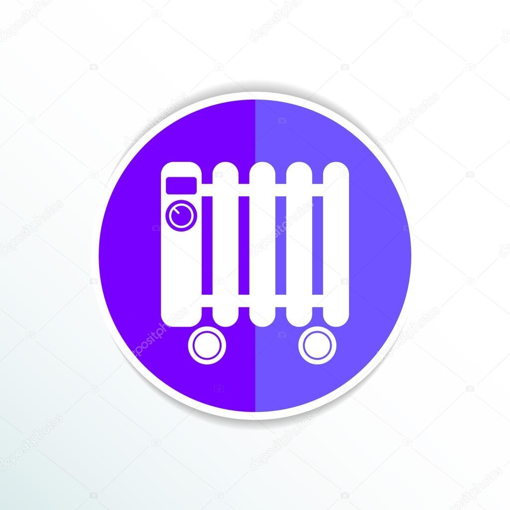 Symbole d 39 ic ne de radiateur a bain typique de radiateur lectrique image vectorielle 78024024 - Symbole radiateur electrique ...