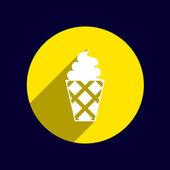 Ice cream vector logo icon frozen, food — Stock Vector
