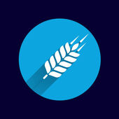 Wheat ear technical logo template. Construction or building sign — Stock Vector