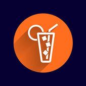 Icône de vecteur de verre avec un cocktail — Vecteur