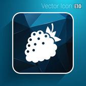 Raspberry vector logo template. Abstract design concept — Stock Vector