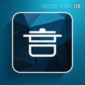 Saucepan food menu kitchen soup pot vector design cooking — Stock Vector