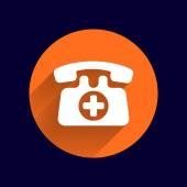 Nouzové volání znak ikona vektorové oheň telefonní číslo tlačítko. — Stock vektor