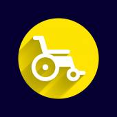 Disabled icon sign vector wheelchair handicap symbol — Stock Vector