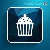 Logo cake cupcake vector symbol label design — Stock Vector