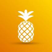 Pineapple closeup cartoon sketch hand drawn illustration — Stock Vector