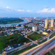 Beautiful National Route 1A highway from high view at Ho Chi Minh City ( Sai Gon ) , Vietnam — Stock Photo #71120327