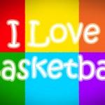 I Love Basketball Concept — Stock Photo #56215525