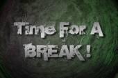 čas na break koncept — Stock fotografie