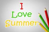 Yaz kavram seviyorum — Stok fotoğraf