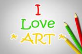 I Love Art Concept — Stock Photo