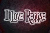 I Love Reggae Concept — Stock Photo