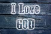 I Love God Concept — Stock Photo