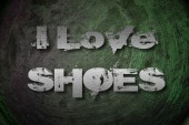 I Love Shoes Concept — Stock Photo