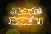 Kocham pojęcia Biblii — Zdjęcie stockowe