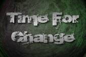 Time for Change concept. — Stock Photo