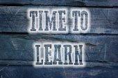 Tid att lära sig begrepp — Stockfoto