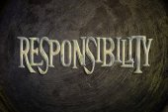 Responsibility Concept — Stock Photo