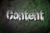 Obsah koncepce — Stock fotografie