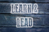 Learn And Lead Concept — Stok fotoğraf