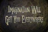 Představivost se dostanete všude koncept — Stock fotografie