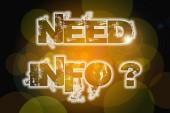 Need Info Concept — Stock fotografie