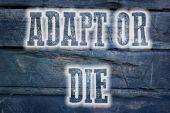 Adapt Or Die Concept — Stock fotografie