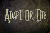 Adapt Or Die Concept — Stock Photo