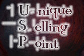 Unique Selling Point Concept — Stok fotoğraf