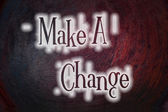Make A Change Concept — Stock Photo