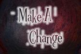 Udělat změnu koncepce — Stock fotografie