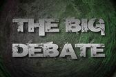 The Big Debate Concept — Stock fotografie