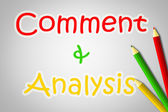 Comment And Analysis Concept — Foto de Stock