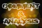 Comment And Analysis Concept — Foto Stock