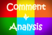 Comment And Analysis Concept — Photo
