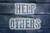 Help Others Concept — Photo