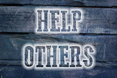 Help Others Concept — Foto de Stock