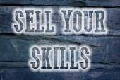 Prodávat své dovednosti koncept — Stock fotografie