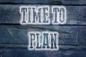 Zeit, konzept zu planen — Stockfoto