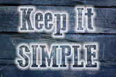 Keep It Simple Concept — Stock Photo